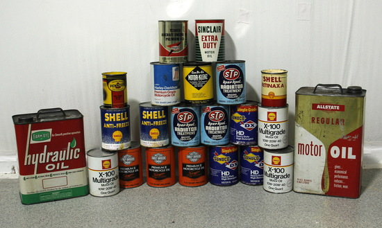 Vintage Lot of Advertising Oil Cans