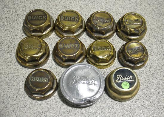 Vintage Buick Brass Threaded Wheel Caps