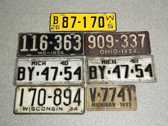1926-1940 Vintage License Plates