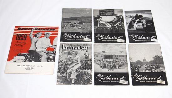 Vintage Harley Davidson Enthusiast Magazines