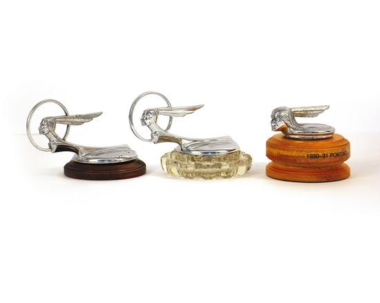 1930-1933 Vintage Pontiac Hood Ornaments (3)