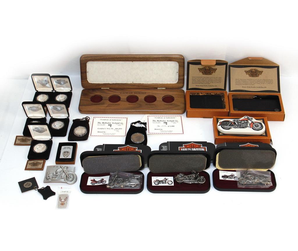Harley-Davidson .999 Silver Coins, Wallet & Knives