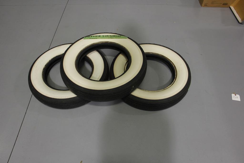 Vintage Lester Whitewall Tires (3)