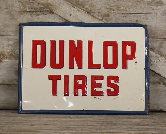 Dupont Tires Embossed Tin Sign