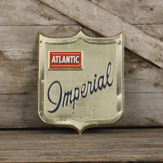 Atlantic Imperial Gas Pump Plate Sign