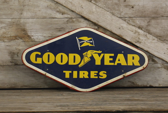 Goodyear Tires Tin Advertising Sign
