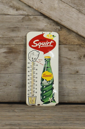 Enjoy SQUIRT Soda Thermometer Advertising Sign