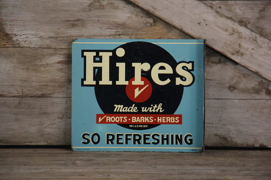 Hires Root Beer Double-Sided Flange Sign