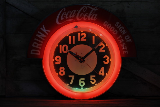 Coca-Cola Neon Clock The Electric Neon Clock Co, Cleveland OH