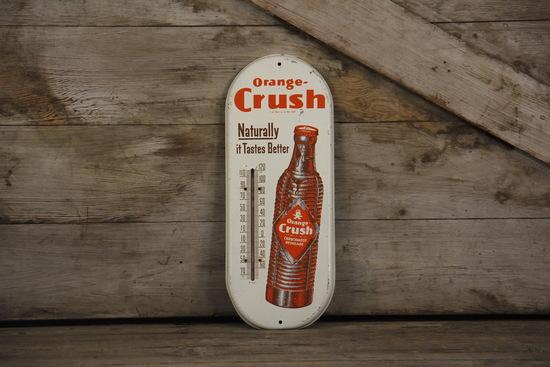 Orange Crush Soda Advertising Thermometer Sign