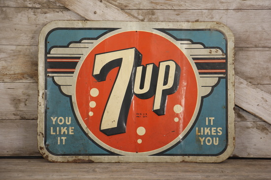 7UP Tin Advertising Sign