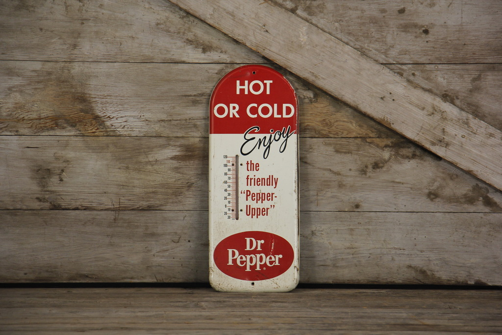 Enjoy Dr Pepper Hot or Cold Advertising Thermometer Sign