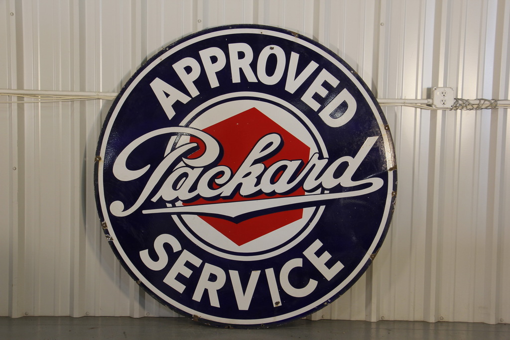 Packard Automobile Dealership Double-Sided Porcelain Sign