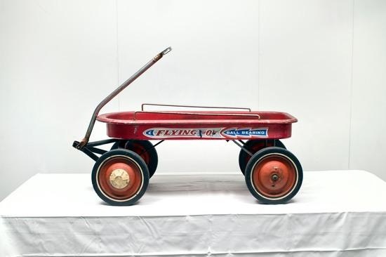 Ball Bearing Flying D Red Wagon