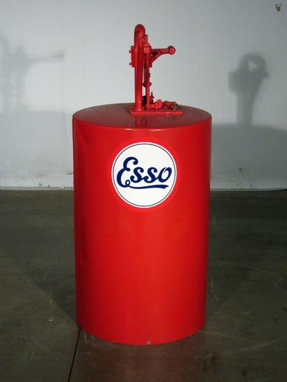 Red Esso Round Oil Lubester