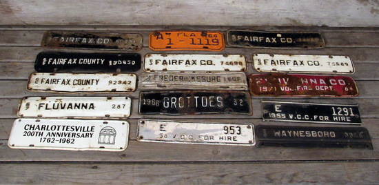 Vintage License Plate Toppers