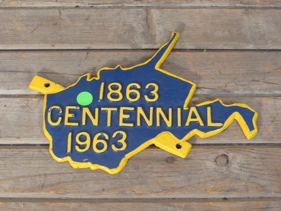 1863 West Virginia Metal Centennial Plaque Hanger