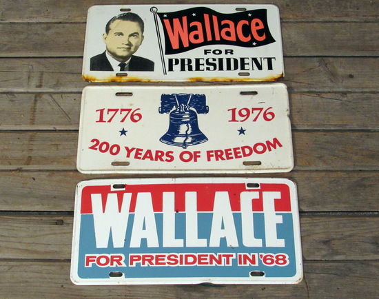 Vintage Wallace and Liberty Bell License Plates