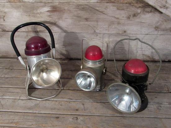 3 Vintage Handilite and Rose Lanterns