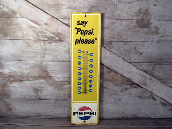 Vintage Say Pepsi Please Thermometer