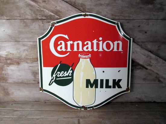 Carnation Milk Porcelain Sign