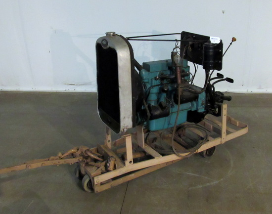 Chevrolet Engine Transmission Radiator on Cart