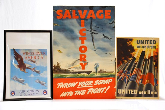 Selection of WWII U.S. Propaganda Posters