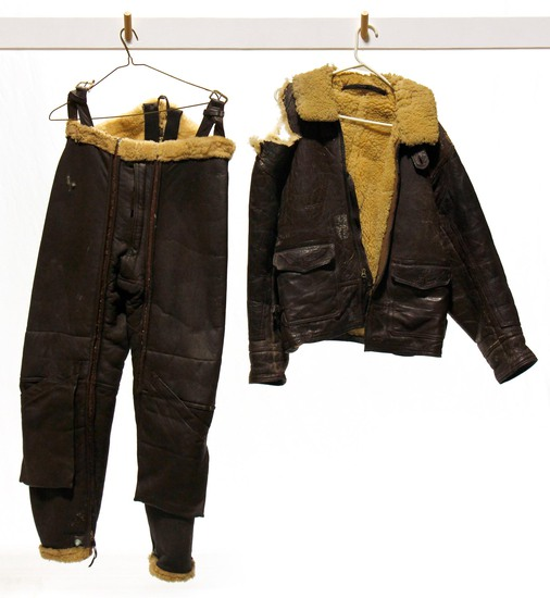 WWII U.S. Army Air Forces Leather Flight Suit