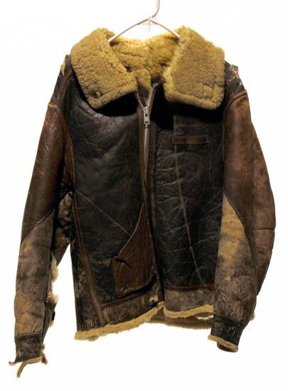 WWII U.S. Army Air Forces Fur-Lined Leather Flight Jacket