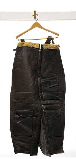 WWII U.S. Army Air Forces Fur-Lined Leather Flight Trousers