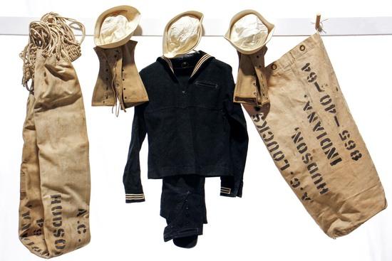 WWII U.S. Navy Identified Named Memorabilia - Uniforms, Hats, Duffle Bags