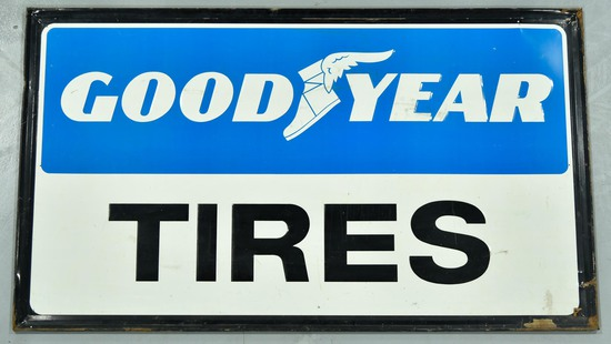 GOODYEAR Tires Embossed Tin Sign