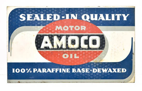 1949 AMOCO Permalube Motor Oil DS Painted Metal Sign