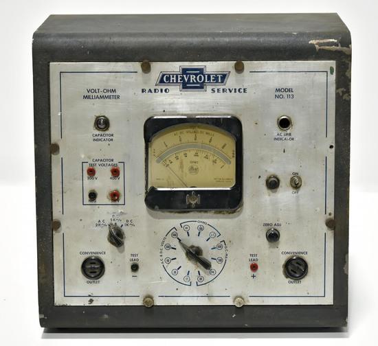 Chevrolet Automobile Radio Tester Display with Bowtie