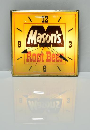 Mason's Root Beer PAM USA Advertising Clock