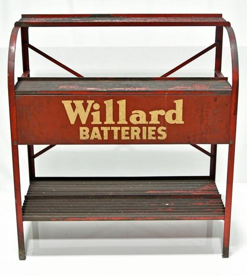 Willard Batteries Battery Display Shelf Sign