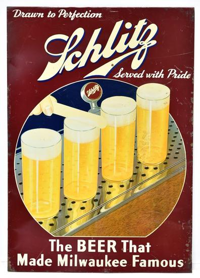 Schlitz Draft Beer Bar Sign
