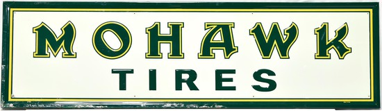 Mohawk Tires Embossed Tin Sign