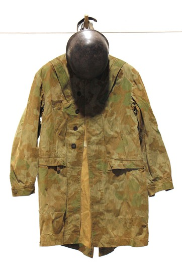WWII Air Force Parachutist Jump Smock and Helmet