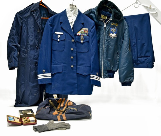 Identified Named Cold War U.S. Air Force Collection of Jackets, Trousers, Ribbons, Shaver