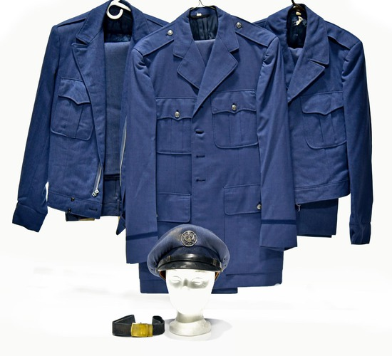 Cold War U.S. Air Force Selection of Service Jackets and Enlisted Field Cap and Belt