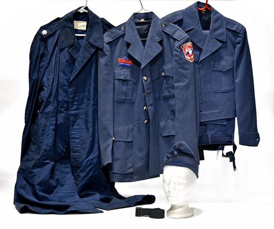 Cold War U.S. Air Force Civil Air Patrol Service Jackets, Raincoat, Garrison Cap and Belt
