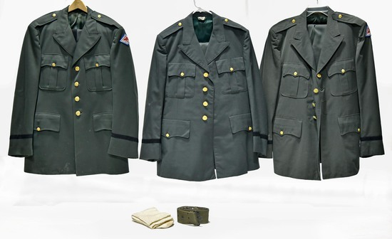 Cold War U.S. Army Collection of Service Jackets with Unit Insignia