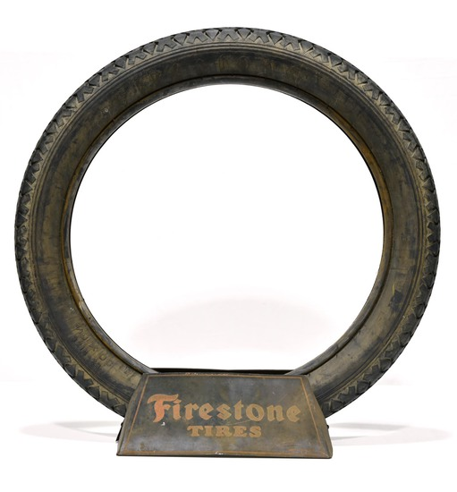 DS Firestone Tires Display Sign with Firestone Tire