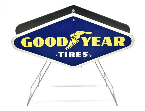 1963 Goodyear Tires DS Display Rack Sign