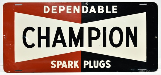 SST CHAMPION Dependable Spark Plugs Sign