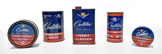 Lot of 5 Cadillac Automobile Cans