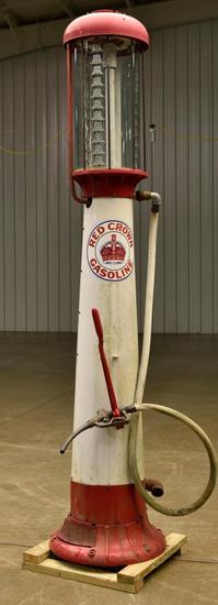 Wayne Visible Red Crown Gasoline Gas Pump