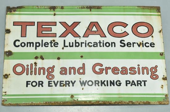 SSP TEXACO Porcelain Gas Service Station Sign