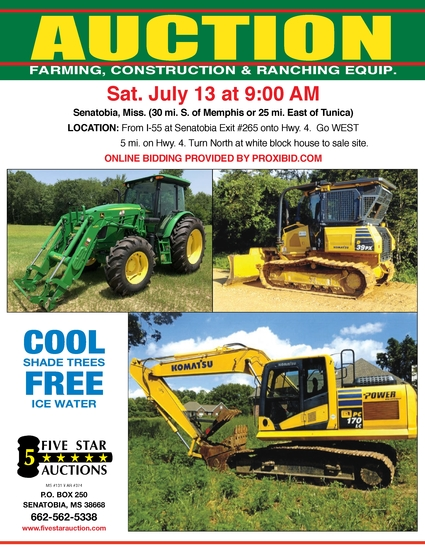 Annual Equipment Auction Under the Shade Trees